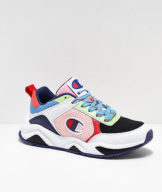 854521abde37 Champion 93 Eighteen SP Block White   Multicolor Shoes