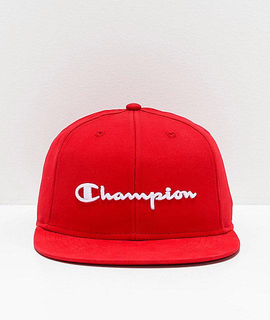 909f5e52a6054 ... Champion BB Script Scarlet Snapback Hat