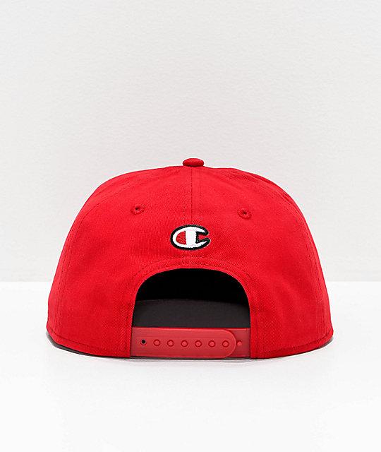 93f015ebaf06e ... Champion BB Script Scarlet Snapback Hat ...