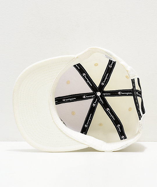 Champion BB Script White Snapback Hat