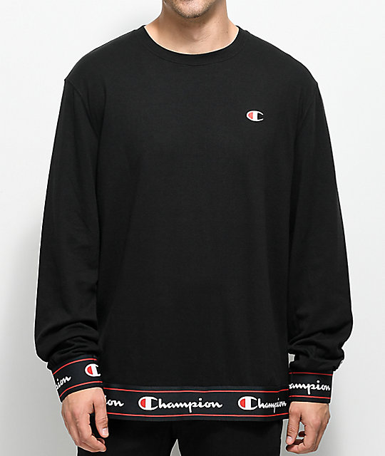 1ab08f91 Champion Bi Ply Black Long Sleeve Shirt | Zumiez
