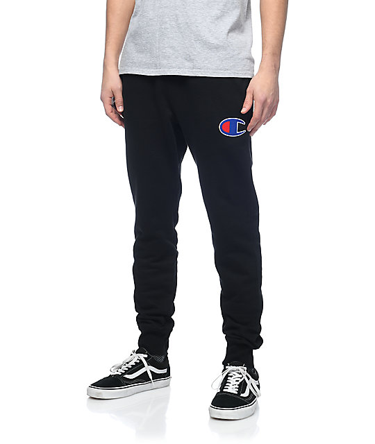champion logo sweatpants