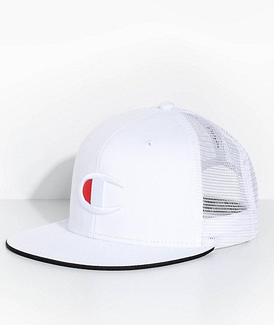 Champion Big C Logo White Snapback Hat  7f8b4ebb275