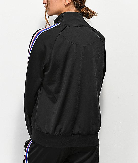 bbe09995af83 ... Champion Black   Striped Track Jacket