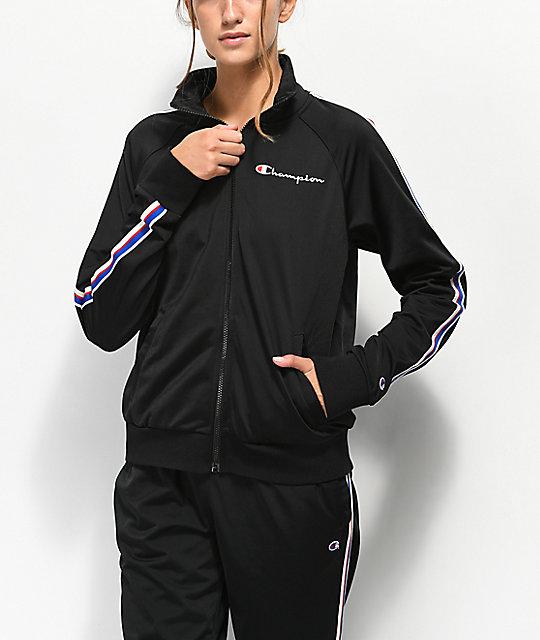 abbc9ea39 Champion Black & Striped Track Jacket