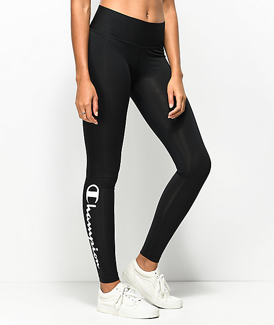 uk cheap sale buy online undefeated x Champion Black & White Script Leggings