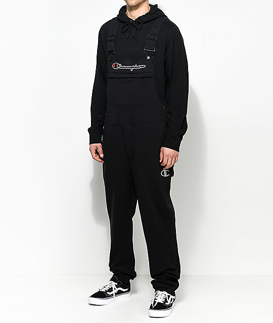 ba1eb56cd57a Champion Black Fleece Overalls