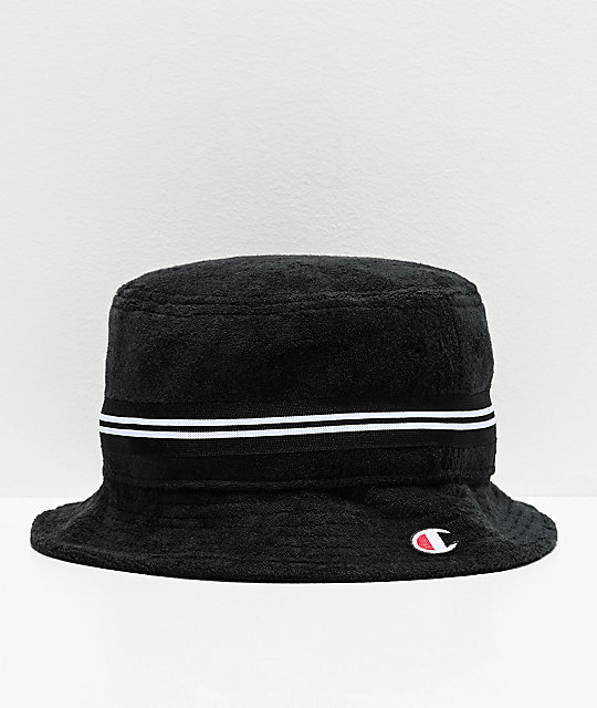 Champion Black French Terry Bucket Hat