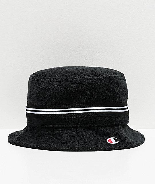 buty do separacji Data wydania: najlepsza strona internetowa Champion Black French Terry Bucket Hat
