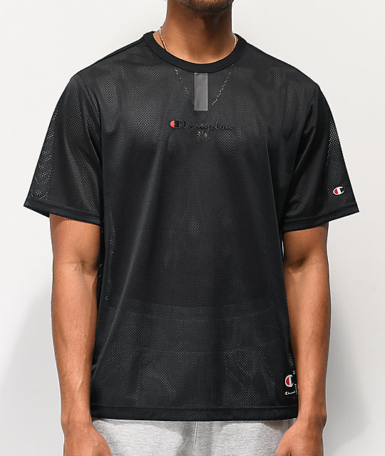 Champion Black Mesh YC T-Shirt