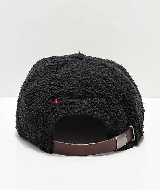 Champion Black Sherpa Strapback Hat