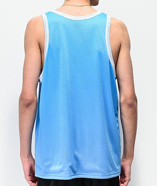 8a0d2128 Champion Blue & White Mesh Tank Top | Zumiez