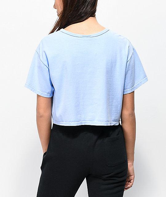 66ccc1b55ab Champion Blue Pigment Dyed Crop T-Shirt | Zumiez