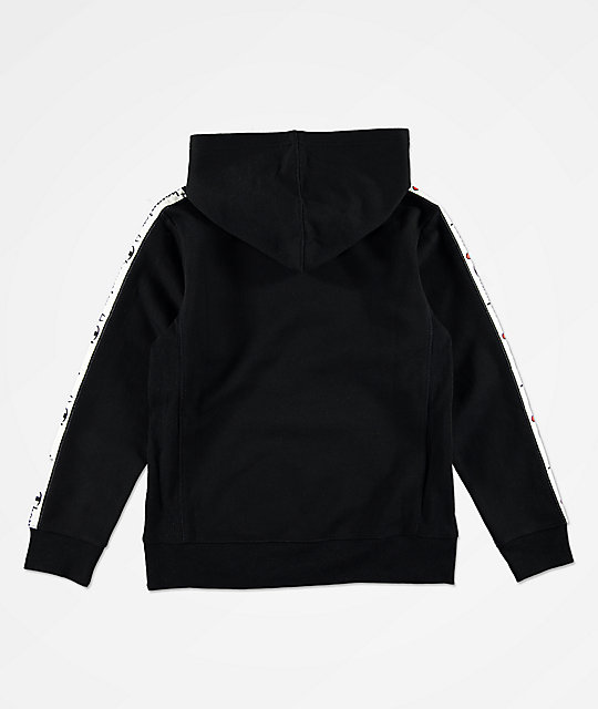 Champion Boys C Patch Taped Black Hoodie