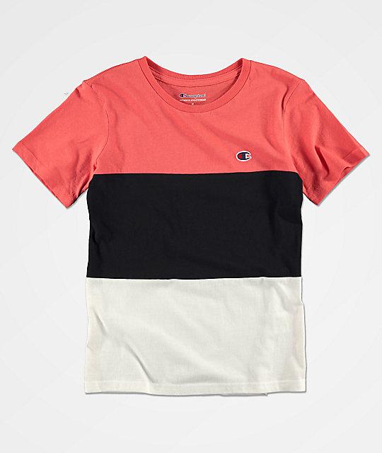 bba0940c Champion Boys Heritage Colorblock Red, Black & White T-Shirt | Zumiez.ca