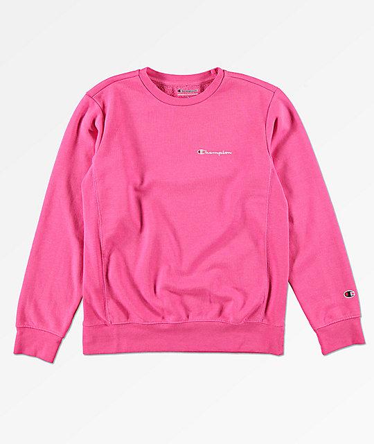 c9ac374f2694 Champion Boys Heritage Pink Crew Neck Sweatshirt
