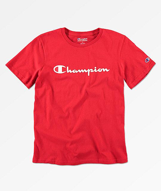 06b24369 Champion Boys Heritage Scarlet Red T-Shirt | Zumiez