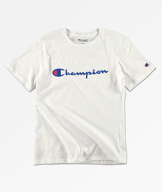 dec8b191 Champion Boys Heritage White T-Shirt | Zumiez