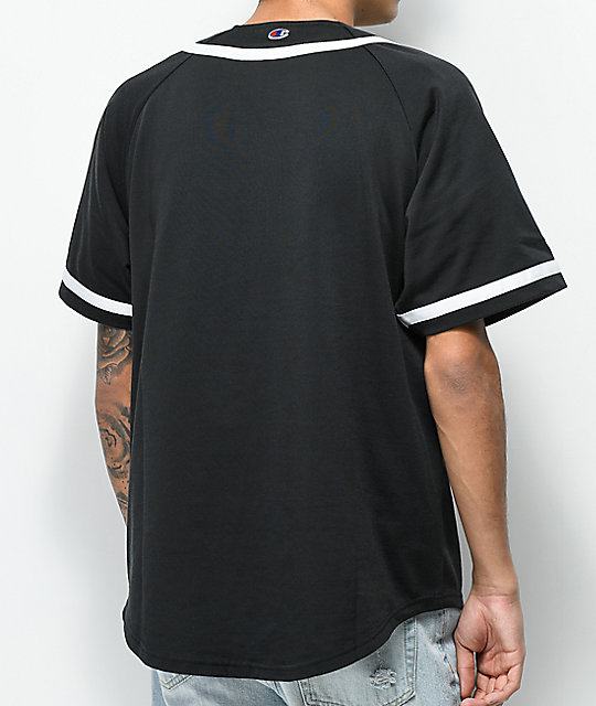 Champion Braided Black Baseball Jersey