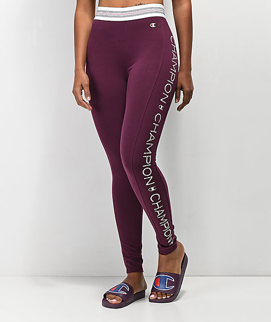 new release limited price enjoy big discount Champion Burgundy High Waist Leggings