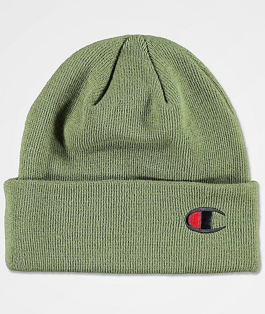 3613a0e102264 champion-cargo-olive-beanie by champion