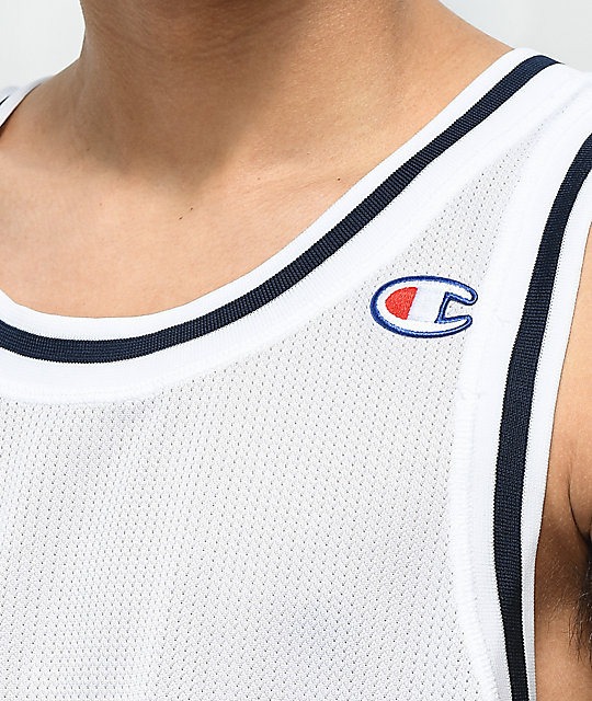 Champion City White Mesh Tank Top