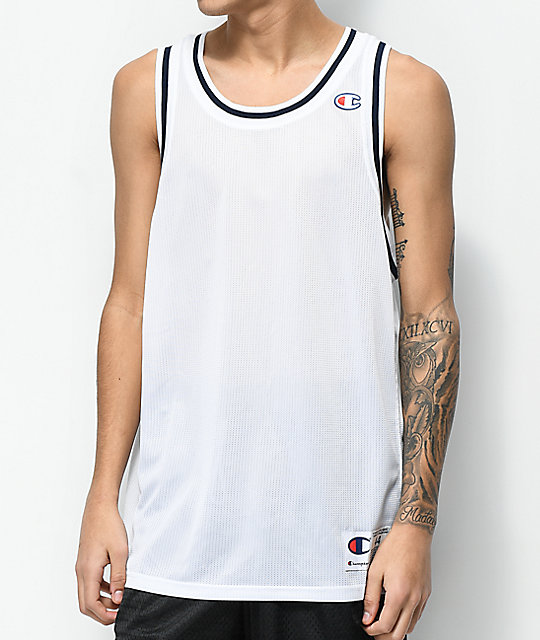 aedbe12e8b51 Champion City White Mesh Tank Top