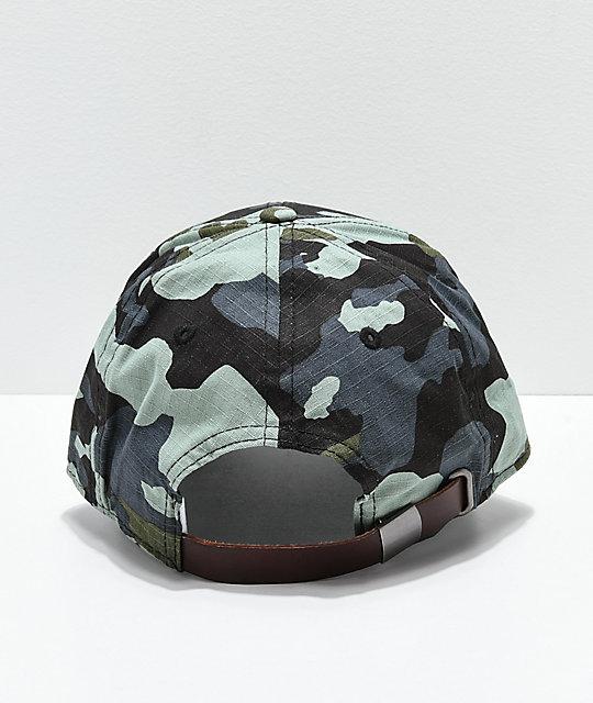 620c01edf6470 ... Champion Classic Twill Camo Logo Script Strapback Hat