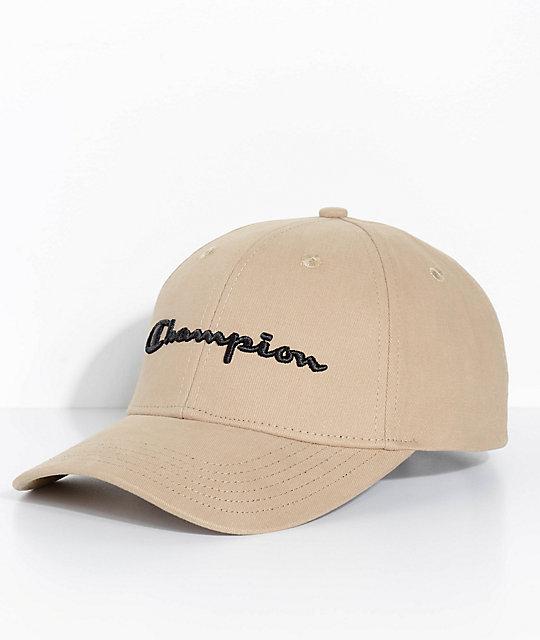 1561a2c9a80ad champion-classic-twill-khaki-strapback-hat by champion