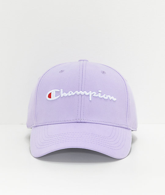 fcd6afac92ea5a Champion Classic Twill Pale Violet Rose Strapback Hat   Zumiez