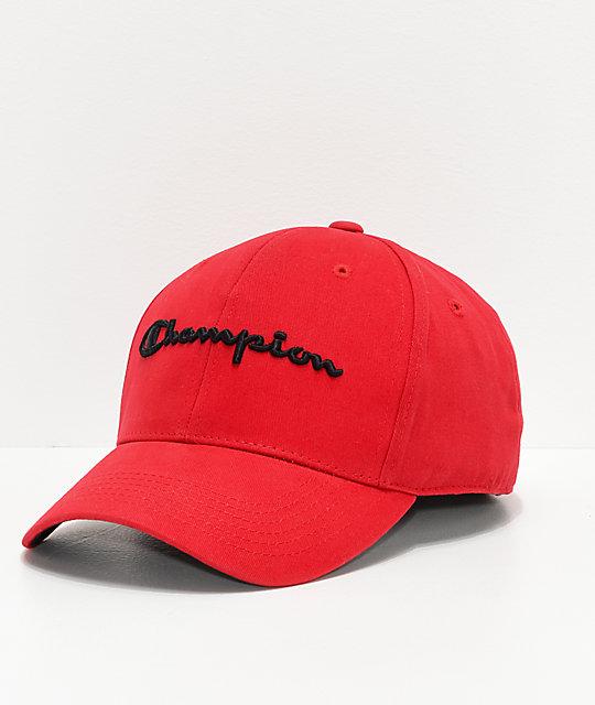 280c73be16309 Champion Classic Twill Red Strapback Hat