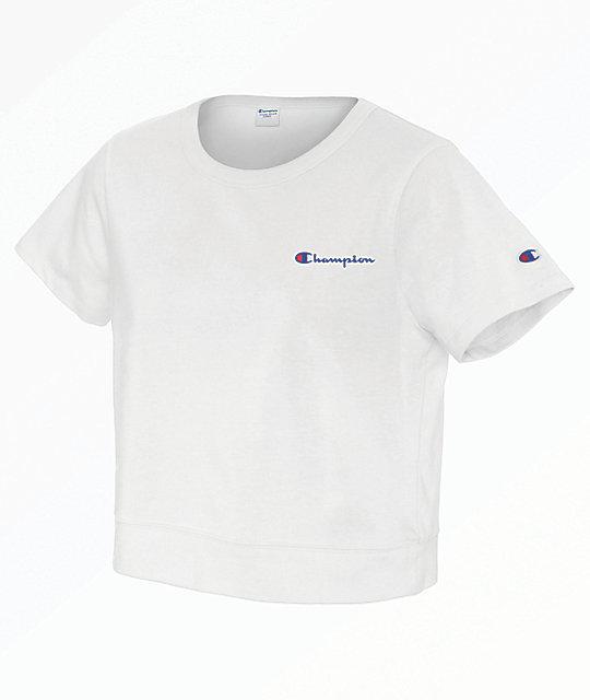 a91a77932206 Champion Cropped White T-Shirt | Zumiez.ca