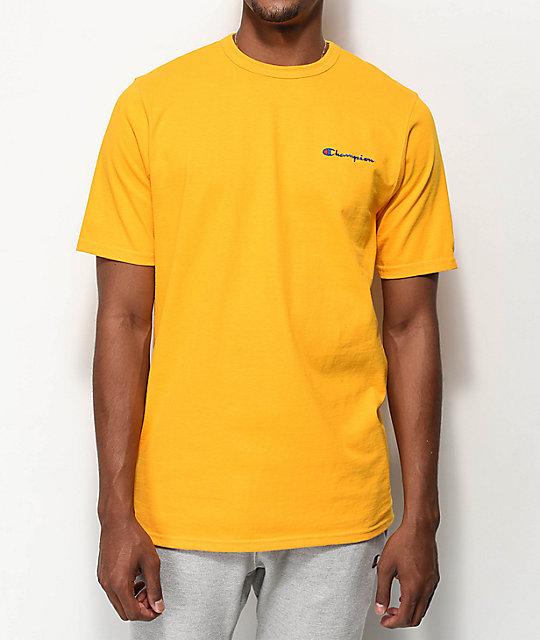 Champion Embroidered Script Gold T-Shirt  da9736239