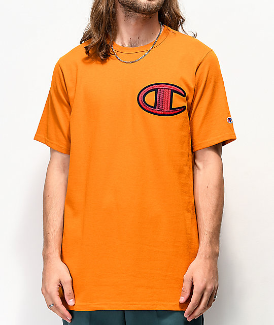 Champion Floss Stitch C camiseta dorada