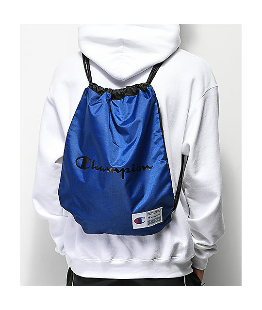Champion Forever Double Sack Blue Gym Cinch Bag