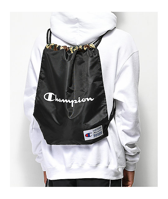 Champion Forever Double Sack Camo Gym Cinch Bag