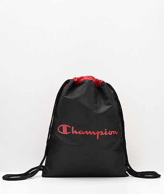Champion Forever Double Sack Red Gym Cinch Bag