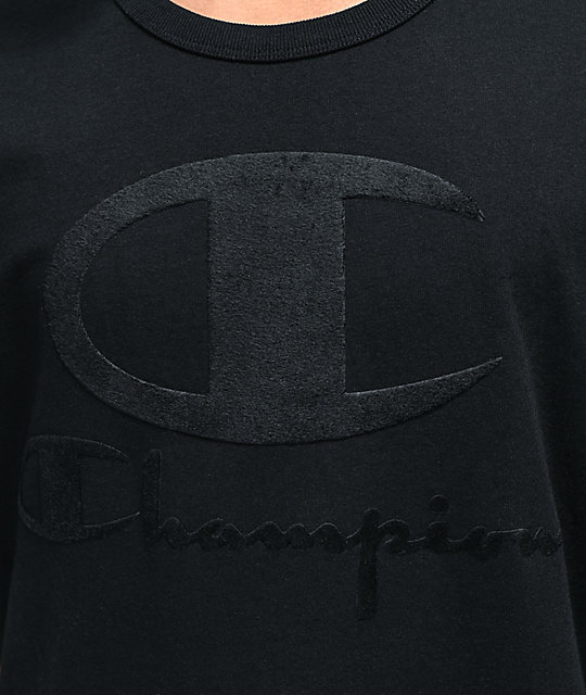 Champion Furry Logo camiseta negra