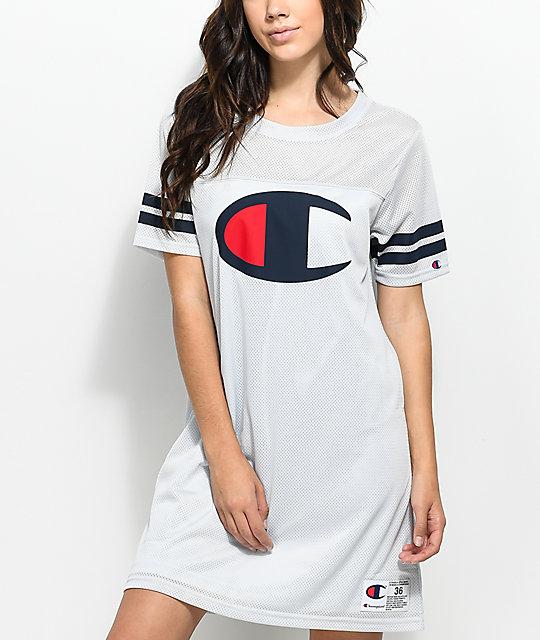 99e0c9c4 Champion Grey Mesh Jersey Dress | Zumiez