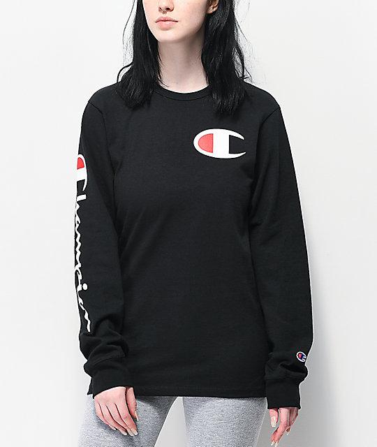 c1d61d71ba Champion Heritage Black Long Sleeve T-Shirt