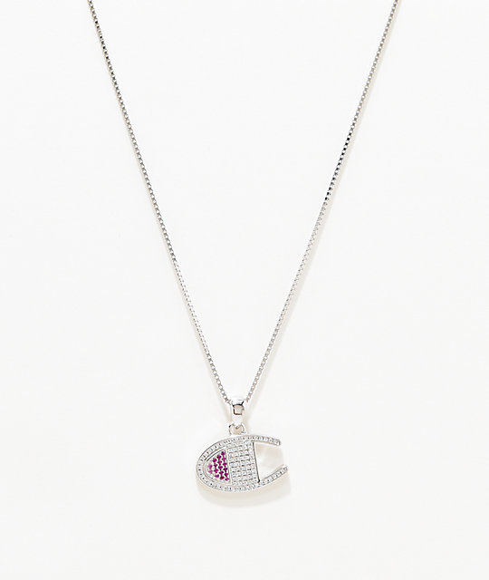 Champion Heritage C Silver Pendant Necklace