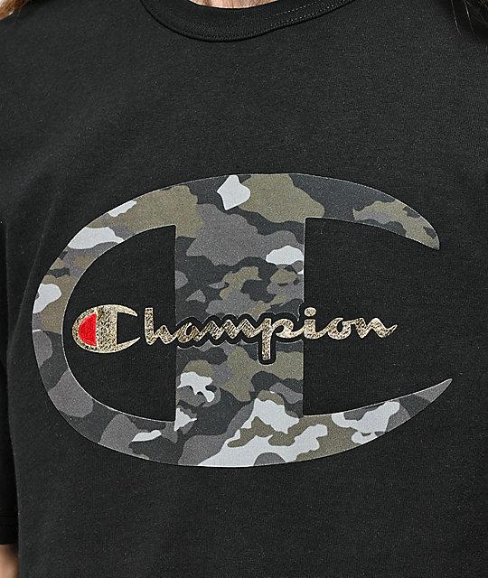 4a178233ac ... Champion Heritage Camo C Black T-Shirt ...