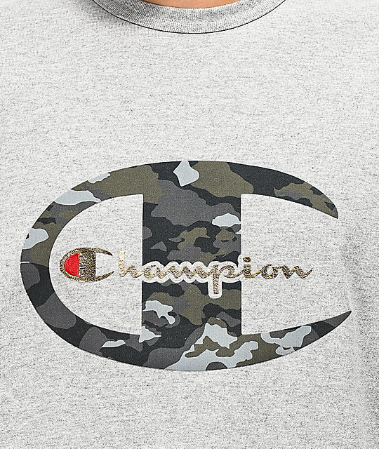 Champion Heritage Camo C Grey T-Shirt