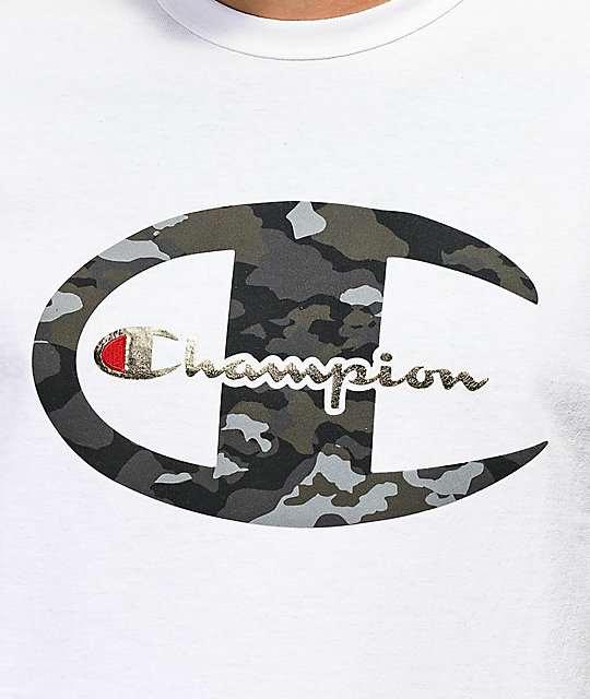 Champion Heritage Camo C White T-Shirt