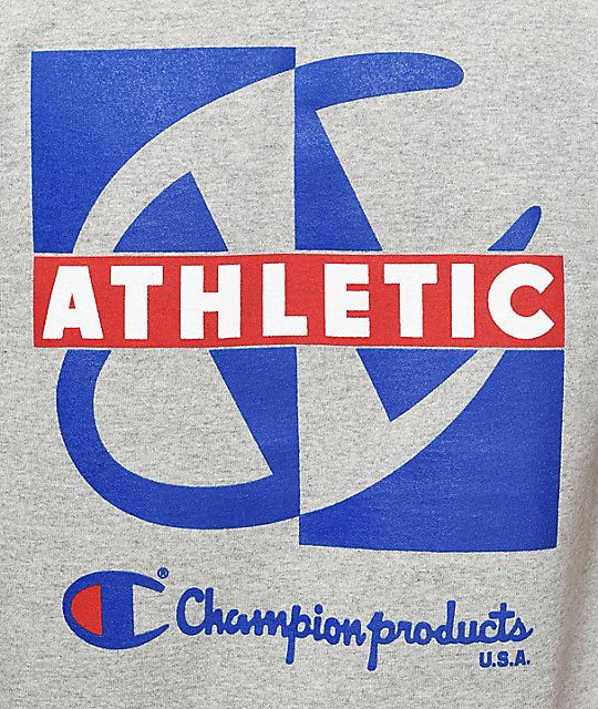 2877fde5 Champion Heritage Crisscross Oxford Grey T-Shirt   Zumiez