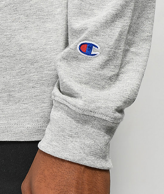 Champion Heritage Gold Grey Long Sleeve T-Shirt