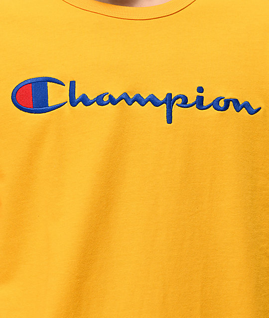 Champion Heritage Gold Long Sleeve T-Shirt