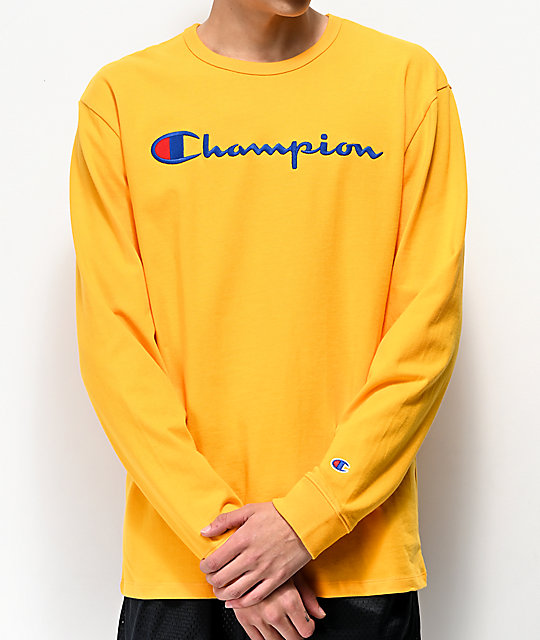 Champion Heritage Gold Long Sleeve T Shirt by Champion