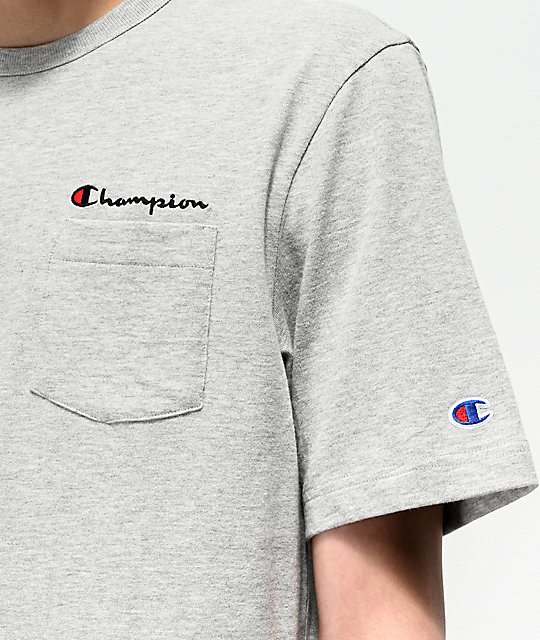 Champion Heritage Grey Pocket T-Shirt
