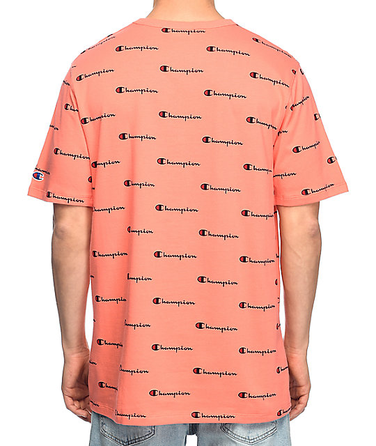 e78ad7367 Champion Heritage Logo Peach T-Shirt | Zumiez